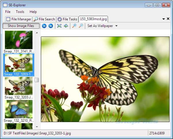 screenshot of SE-Explorer