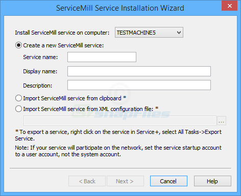 screenshot of ServiceMill