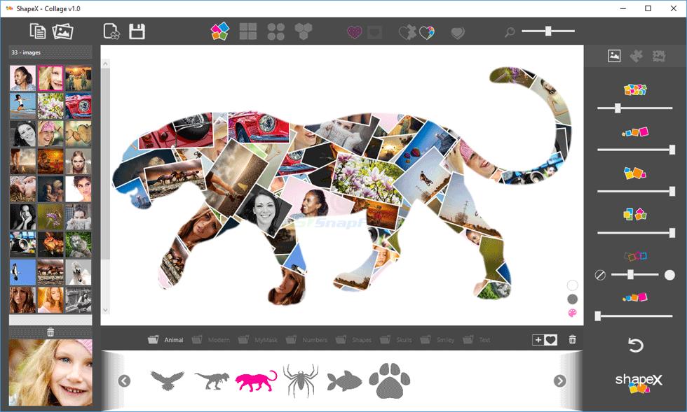screen capture of ShapeX