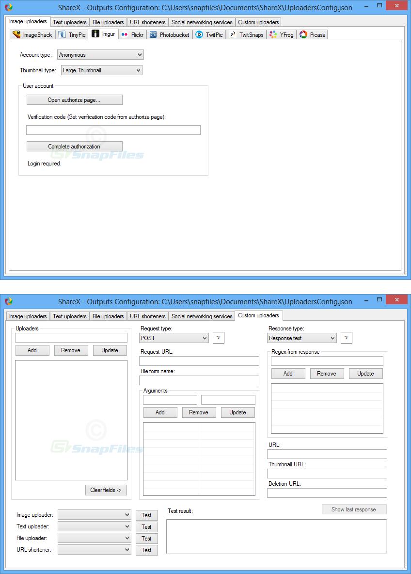 screenshot of ShareX