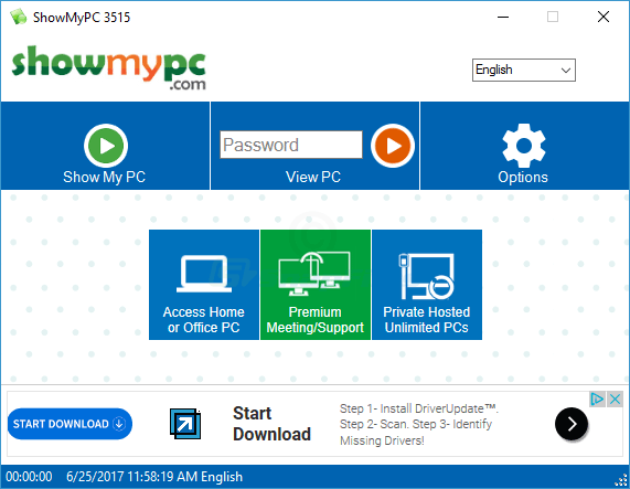 screen capture of ShowMyPC (Free Version)