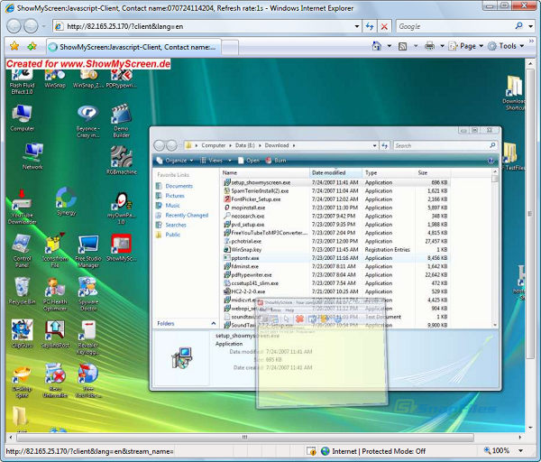 screenshot of ShowMyScreen