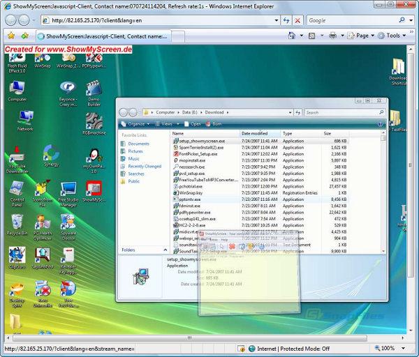 screenshot of ShowMyScreen