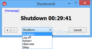 screenshot of Shutdown8