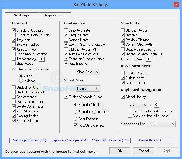 screenshot of SideSlide