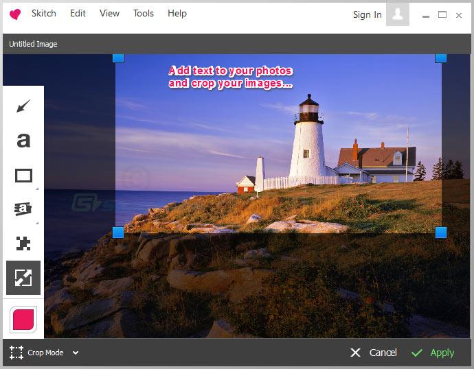 screenshot of Skitch