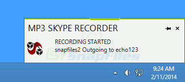 screenshot of MP3 Skype Recorder