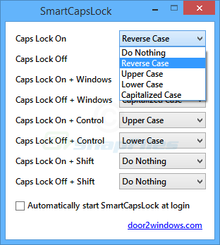 screen capture of SmartCapsLock