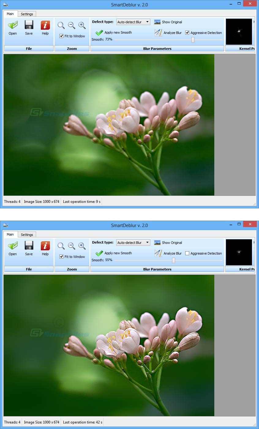 screenshot of SmartDeblur