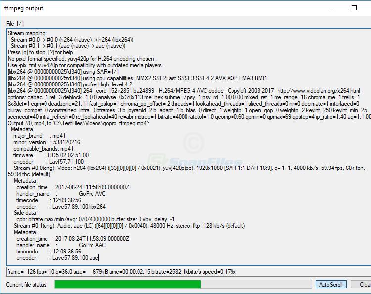 screenshot of SmartFFmpeg