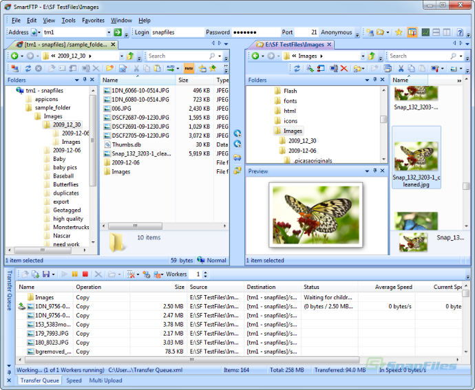 screen capture of SmartFTP