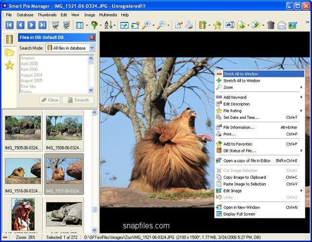 screen capture of Smart Pix Manager