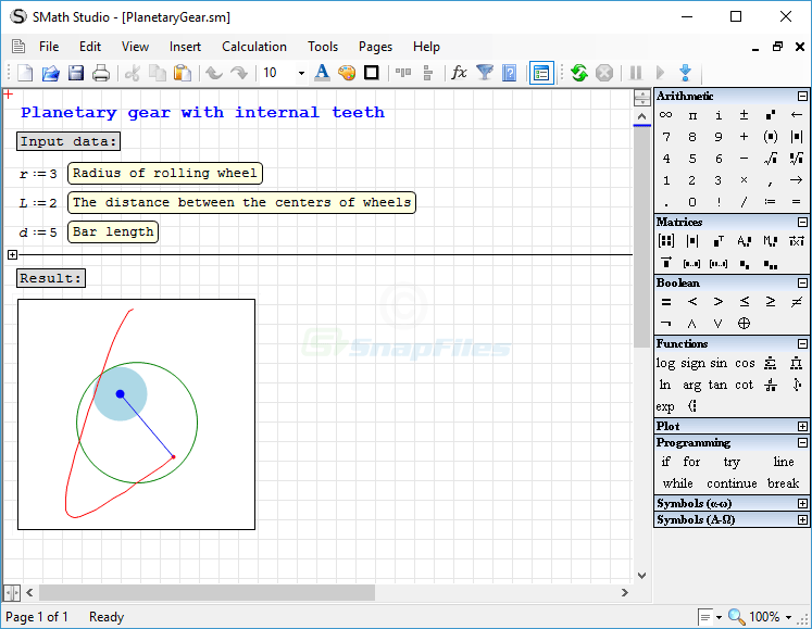screenshot of SMath Studio
