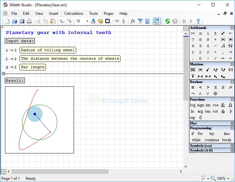 screenshot of SMath Studio