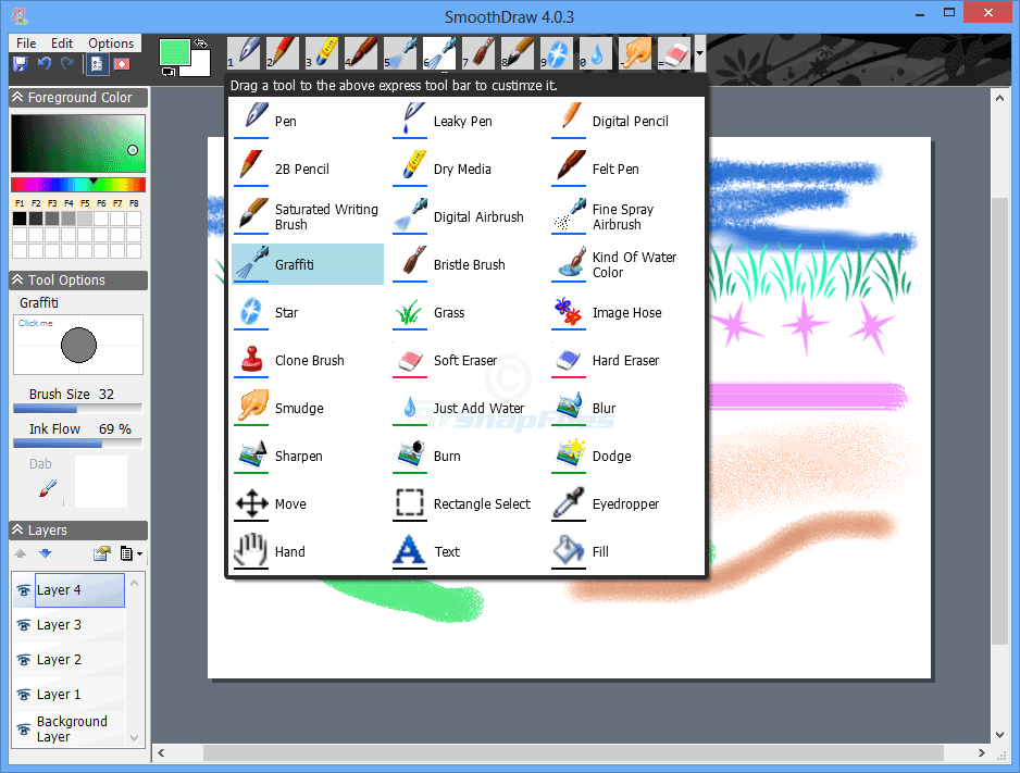 screenshot of SmoothDraw