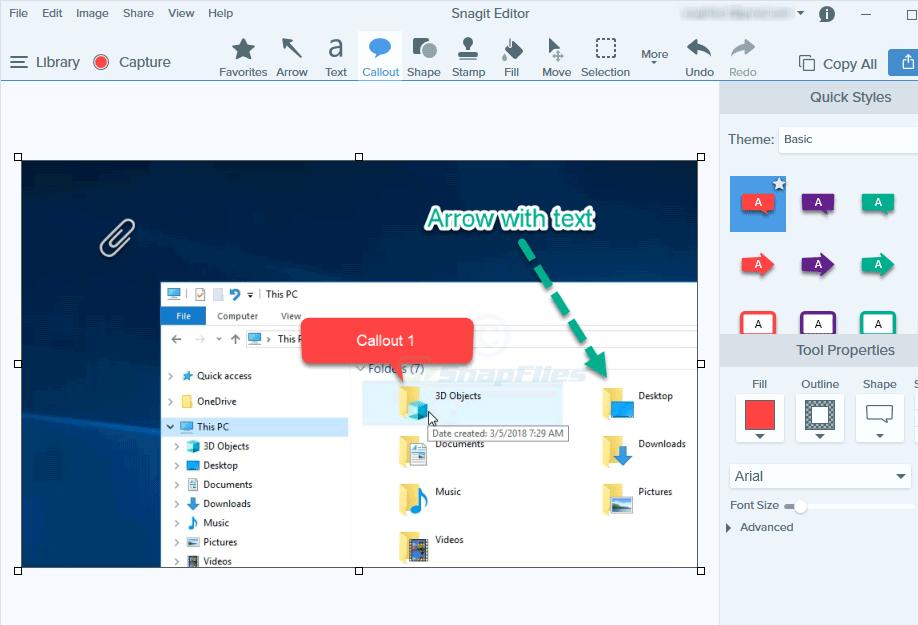 screenshot of SnagIt