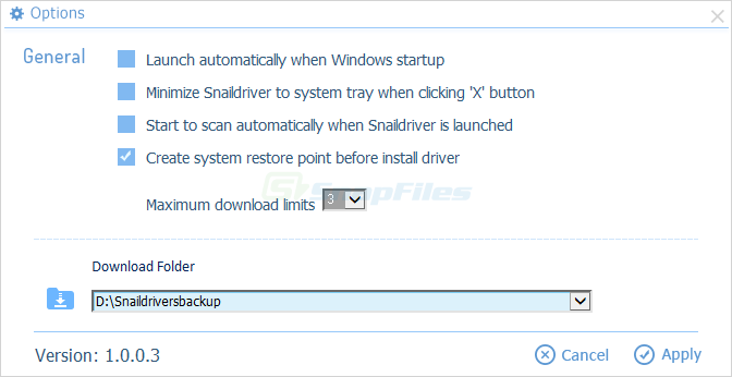 screenshot of SnailDriver
