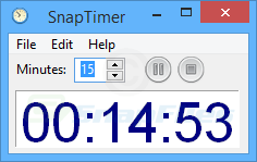 screen capture of SnapTimer