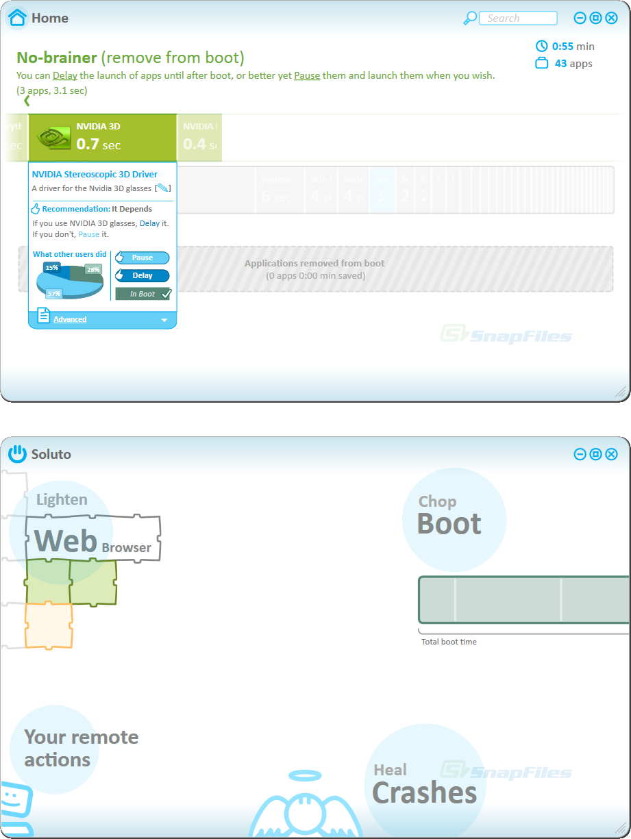 screenshot of Soluto