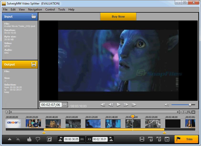 screenshot of SolveigMM Video Splitter