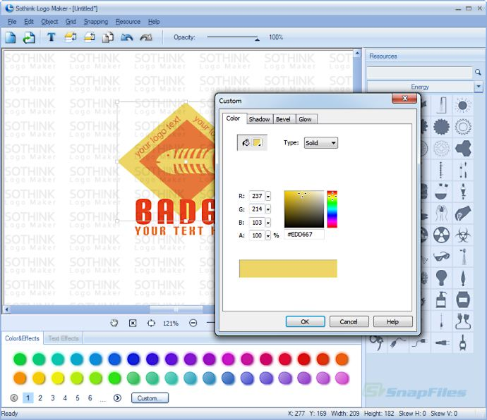 screenshot of Sothink Logo Maker
