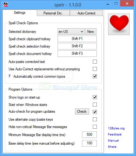 screenshot of Spelr