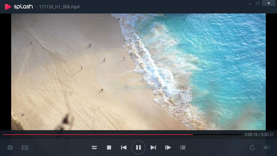 screen capture of Splash