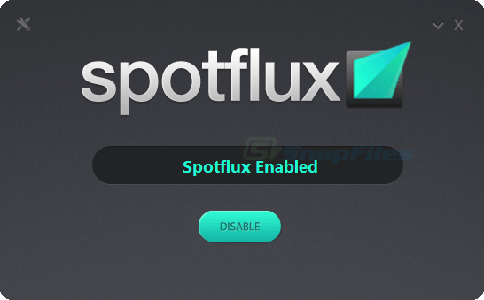 screen capture of Spotflux