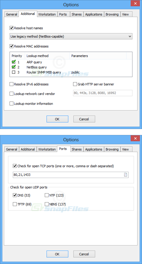 screenshot of SoftPerfect Network Scanner