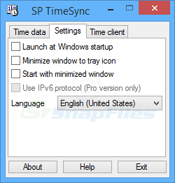 screenshot of SP TimeSync