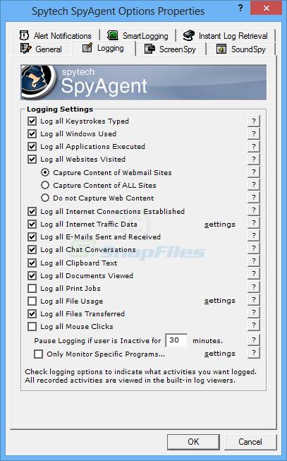 screenshot of Spytech SpyAgent