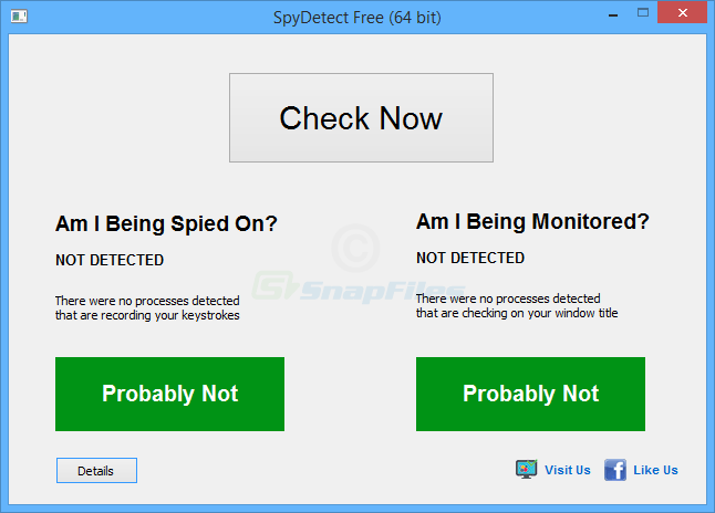 screen capture of SpyDetect Free