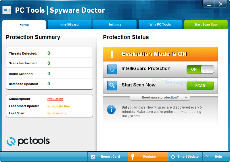 screen capture of Spyware Doctor (Demo)