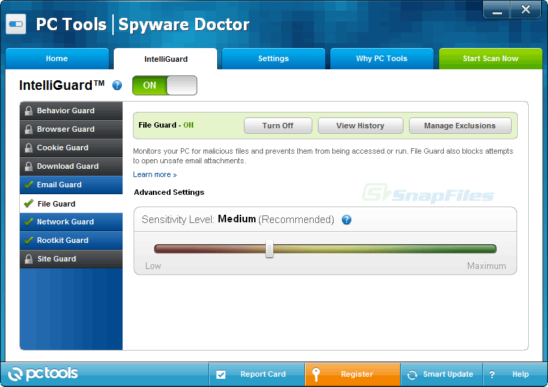 screenshot of Spyware Doctor (Demo)