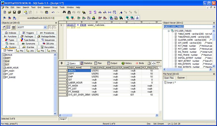 screen capture of SQLTools