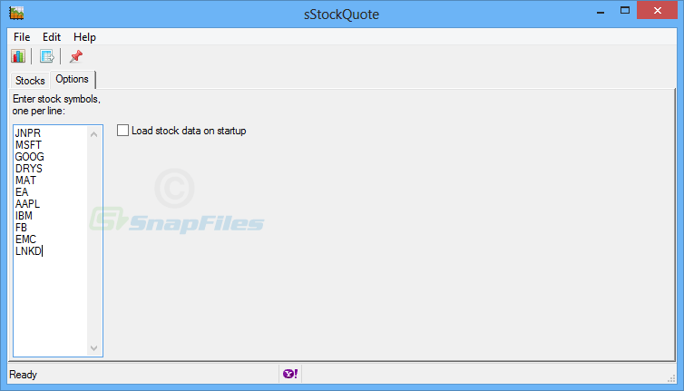 screenshot of sStockQuote