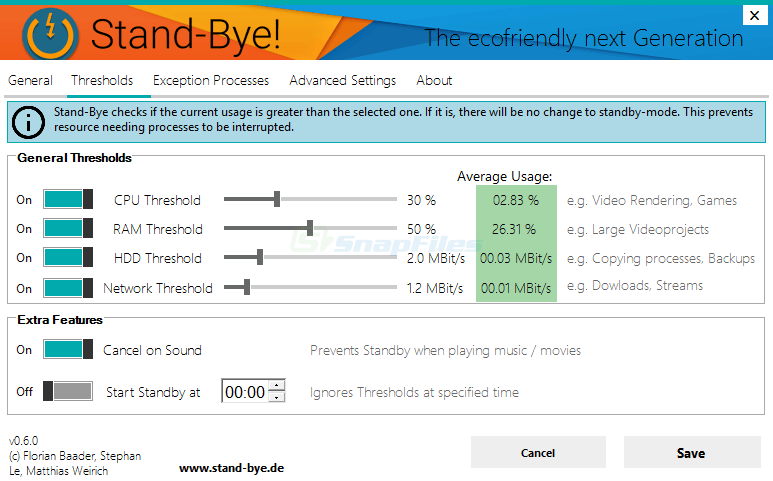 screenshot of Stand-Bye!