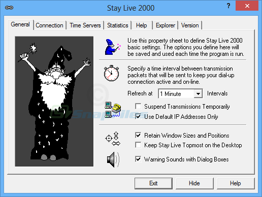 screen capture of Stay Live 2000