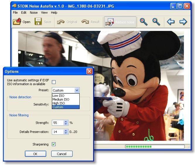 screen capture of STOIK Noise Autofix