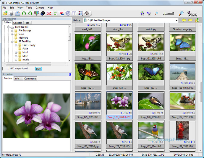 screen capture of STOIK Imagic Free Browser