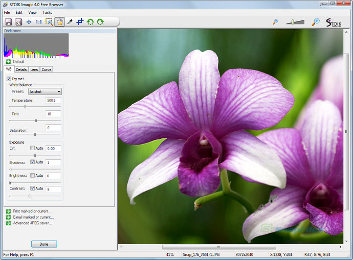 screenshot of STOIK Imagic Free Browser