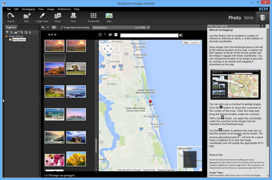 screenshot of StudioLine Photo Basic