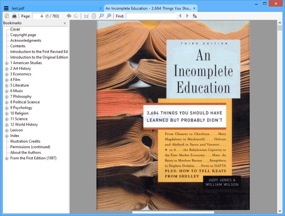 screen capture of Sumatra PDF