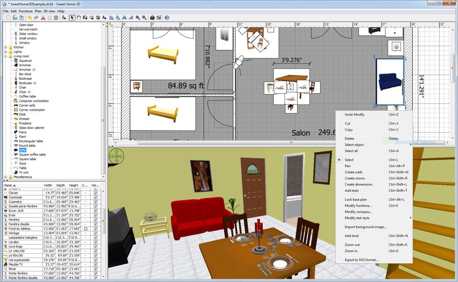 Sweet Home 3D screenshot and download at SnapFiles.com