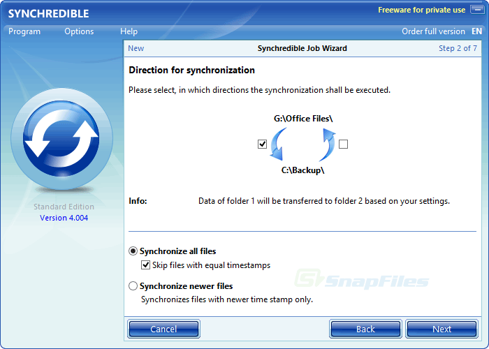 screenshot of Synchredible