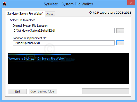 screen capture of SysMate System File Walker