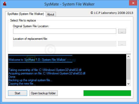 screenshot of SysMate System File Walker
