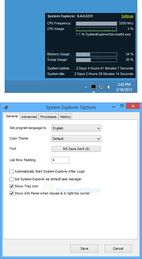screenshot of System Explorer