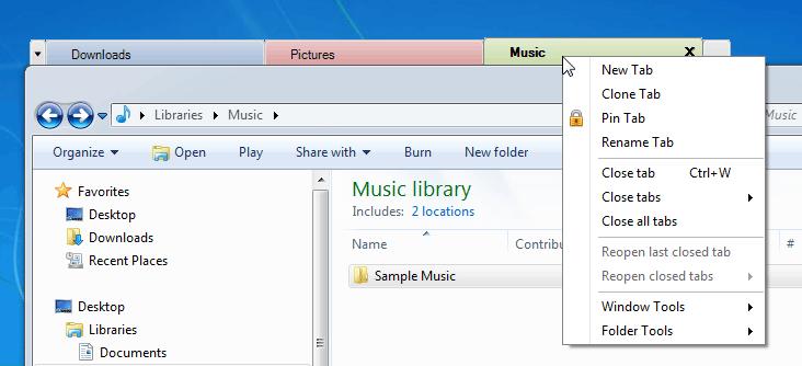 screenshot of TabExplorer