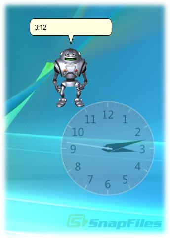 screen capture of Talking Desktop Clock